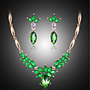 cheap Jewelry Sets-Pearl Jewelry Set - Cubic Zirconia Vintage, Party, Fashion Include Emerald For Party Special Occasion Anniversary / Earrings / Necklace