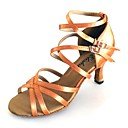 cheap LED Strip Lights-Women's Latin Shoes / Salsa Shoes Satin Sandal Customized Heel Customizable Dance Shoes Tan / Black / Green / Indoor / Performance / Practice / Professional