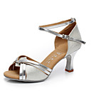 cheap Latin Shoes-Women's Latin Shoes Leatherette Heel Buckle Cuban Heel Customizable Dance Shoes Silver / Gold / Indoor / Performance / Practice / Professional