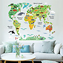 cheap Window Film & Stickers-Decorative Wall Stickers - Map Wall Stickers Landscape / Animals / Cartoon Living Room / Bedroom / Dining Room