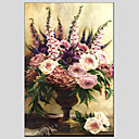 cheap Still Life Paintings-Oil Painting Hand Painted - Still Life European Style Modern Canvas