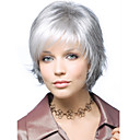 cheap Human Hair Wigs-gray short syntheic hair wig extensions individuation