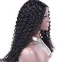 cheap Card Games & Poker-Human Hair Glueless Lace Front / Lace Front Wig Kinky Curly Wig 130% Natural Hairline / African American Wig / 100% Hand Tied Women's Short / Medium Length / Long Human Hair Lace Wig