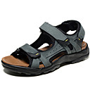 cheap Men's Slippers & Flip-Flops-Men's Cowhide Spring / Summer Comfort Sandals Water Shoes Gray / Light Brown