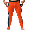 cheap Running Shirts, Pants & Shorts-Men's Patchwork Running Baselayer / Running Tights / Gym Leggings - Black, Orange, Blue Sports Fashion Tights Fitness, Gym, Workout Activewear Quick Dry, High Breathability (>15,001g), Breathable