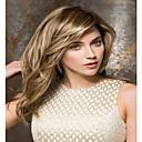 halpa Kehokorut-Synteettiset peruukit Suora Vaaleahiuksisuus Otsatukalla Synteettiset hiukset Bangsin kanssa Vaaleahiuksisuus Peruukki Naisten Suojuksettomat