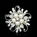 cheap Brooches-Women's Brooches - Imitation Pearl Ladies, Fashion Brooch Jewelry Silver For Wedding / Party / Special Occasion / Birthday / Gift / Daily