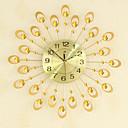 رخيصةأون ساعات جدران عصرية-الحديث الإبداعية الأزياء معدن الزجاج كتم الرقمية الجدار شنقا ساعة