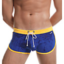 abordables Bañadores de Hombre-Hombre Deportivo Rojo Gris Amarillo Pantalones de bañador Partes Inferiores Bañadores - Bloques S M L Rojo / Verano / 1 Pieza / Súper Sexy