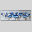 billige Blomster-/botaniske malerier-Hang malte oljemaleri Håndmalte - Landskap Moderne Lerret