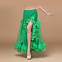 hesapli Göbek Dansı Giysileri-Göbek Dansı Alt Giyimler Kadın's Eğitim / Performans Şifon Kırma Dantel Düşük Seksi Küresel Kızlar Etek