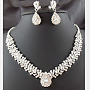 cheap Jewelry Sets-Crystal Tassel Jewelry Set - Cubic Zirconia, Imitation Diamond Drop Party, Fashion Include White For Party / Special Occasion / Anniversary / Earrings / Necklace