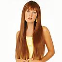 billige Lågløs-Human Hair Capless Parykker Menneskehår Lige Lågløs Paryk / Ret
