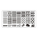 cheap Nail Stamping-5pcs rectangular nail art stamping plates fashion design polish stamp print mould template om b06 to om b10