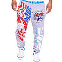 cheap Movie & TV Theme Costumes-Men's Active Cotton Active Sweatpants Relaxed Pants - Print Letter, Modern Style