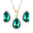 cheap Building Blocks-Women's Jewelry Set - Fashion Include Red / Green / Blue For Wedding Party Daily / Earrings / Necklace