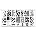 billige Neglestempling-5 pcs Negle Smykker Stampplate Neglekunst Manikyr pedikyr Daglig Blomst / Mote / stempling Plate / Nail Smykker / Metall