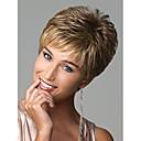 お買い得  人工毛キャップレスウィッグ-人工毛ウィッグ ウェーブ / 欧風 スタイル ピクシーカット キャップレス かつら ブロンド ブロンド 虹色 合成 女性用 ヨーロッパの織物 ブロンド かつら ショート ナチュラルウィッグ