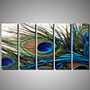 cheap Artificial Flower-Rolled Canvas Prints Landscape Animals Romance Photographic Five Panels Horizontal Wall Decor Home Decoration
