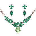 abordables Juego de Joyas-Mujer Conjunto de joyas - Cristal, Diamante Sintético Flor Bohemio, Boho Incluir Rosa / Verde / Azul Para Boda / Fiesta / Collare