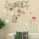 cheap Christmas Decorations-Decorative Wall Stickers - 3D Wall Stickers Landscape / Christmas Decorations / Florals Living Room / Bedroom / Bathroom / Removable