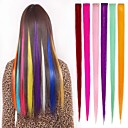 cheap Synthetic Extensions-long synthetic straight and clip in hair extensions with 1 clips 6 color available