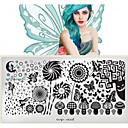 hesapli Kek Kalıpları-1 pcs Nail Jewelry / Tırnak Baskı Aleti Moda Sevimli Günlük Tırnak Tasarımı Tasarımı