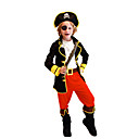 cheap Boys' Pants-Pirate Cosplay Costume Movie Cosplay Black Top Pants Belt Christmas Halloween New Year Polyester
