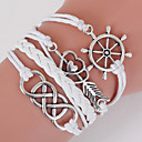 cheap Bracelets-Men's Women's Wrap Bracelet Loom Bracelet - Love, Anchor Bohemian, Double-layer Bracelet White For Daily Casual