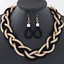 ieftine Cercei-Pentru femei Set bijuterii femei Include Albastru / Auriu / Curcubeu Pentru Nuntă Petrecere Zilnic Casual / Σκουλαρίκια / Coliere