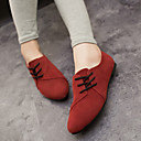 cheap Women's Oxfords-Women's Shoes Fabric Spring / Summer / Fall Comfort Flat Heel Lace-up Gray / Yellow / Red