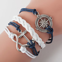 cheap Bracelets-Men's Women's Wrap Bracelet Loom Bracelet - Love, Anchor Bohemian, Double-layer Bracelet Blue For Daily Casual