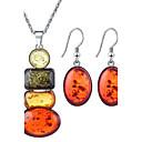 baratos Braceletes-Mulheres Conjunto de jóias - Strass Incluir Arco-Íris Para Casamento Festa Aniversário / Brincos / Colares