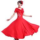 voordelige Ballroom danskleding-Ballroomdansen Jurken Dames Prestatie Spandex / Chinlon Drapering Kleding / Neckwear / Moderne Dans