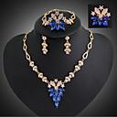 baratos Bell & Locks & Mirrors-Mulheres Conjunto de jóias Anéis / Brincos / Colares - Fashion / Europeu Conjunto de Jóias Para Casamento / Festa / Ocasião Especial
