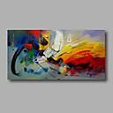 cheap Rolled Canvas Paintings-Oil Painting Hand Painted - Abstract Modern Stretched Canvas