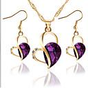 cheap Rings-Women's Cubic Zirconia Jewelry Set - Zircon Drop, Heart, Love Include Purple / Green / Blue For Wedding / Party / Birthday / Earrings / Necklace