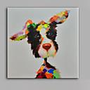 abordables Cuadros de Animales-Pintura al óleo pintada a colgar Pintada a mano - Pop Art Modern Lona