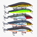 cheap Hair Care-10 pcs Fishing Lures Minnow Hard Bait Hard Plastic Carbon Steel Sea Fishing Bait Casting Spinning Jigging Fishing Freshwater Fishing