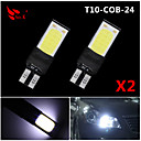 abordables Luces Interiores de Coche-SO.K 2pcs T10 Coche Bombillas COB 200 lm 6 Luz de Intermitente For Universal