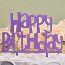 baratos Decorações de Bolo-Decorações de Bolo Tema Clássico Monograma Plástico Duro Aniversário com 1pcs PPO