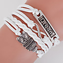 cheap Bracelets-Men's Women's Wrap Bracelet Loom Bracelet Owl Love Anchor Bohemian Double-layer Bracelet Jewelry White For Daily Casual