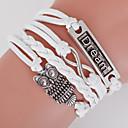 preiswerte Einbauleuchten-Herrn Damen Wickelarmbänder loom-Armband Eule Liebe Anker Böhmische Doppelschicht Armbänder Schmuck Weiß Für Alltag Normal