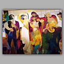 זול אומנות ממוסגרת-ציור שמן צבוע-Hang מצויר ביד - אנשים מודרני בַּד