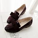 olcso Női topánkák és vászoncipők-Női Cipő Bőrutánzat Tavasz / Nyár / Ősz Alacsony Csokor Szürke / Barna / Piros