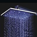 cheap Bathroom Sink Faucets-Contemporary Rain Shower Chrome Feature - Rainfall LED, Shower Head