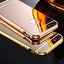 baratos Brincos-Capinha Para iPhone 5 / Apple Capinha iPhone 5 Galvanizado / Espelho Capa traseira Sólido Rígida Acrílico para iPhone SE / 5s / iPhone 5