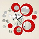 halpa Peilit Wall Clocks-Muoti Acryic / polyesteri Pyöreä Lentokone-seinätarrat