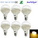 hesapli LED Ampuller-YouOKLight 6pcs 700lm E26 / E27 LED Küre Ampuller B 15 LED Boncuklar SMD 5630 Dekorotif Sıcak Beyaz 220-240V