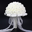 "cheap Wedding Flowers-Wedding Flowers Bouquets Wedding Party / Evening Elastic Satin Rhinestone Satin 15.75""(Approx.40cm)"